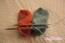 Toe Up Socks - Completed to Ankle