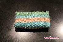 Knitted Pocket Tissue Holder - Back View