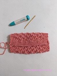 Pocket Tissue Holder in Moss Stitch