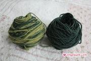 Catskill Merino Yarn in Indigo Fustic and Indigo Fustic Dark