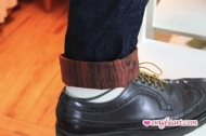 Wood Cuff Jeans