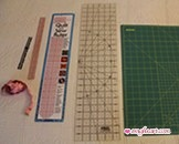 Tape Measure, Sewing Gauge 6in, C-Thru Ruler 1in x 12in, Quilt and Sew Ruler 2in x 18in, Olfa Frosted AdvantageGrid Ruler 6in x 24in