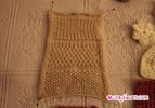 Knit Sample - Stockinette, 1x1 Rib, Picot, and Seed Stitches