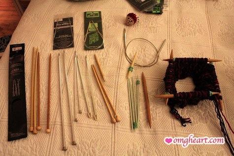 Knitting Needles - Straight Needles - Crystal Palace, Clover, Susan Bates; Circular Needles - Hiya Hiya, Clover, Addi Turbo; Double Pointed Needles - Susan Bates, Crystal Palace