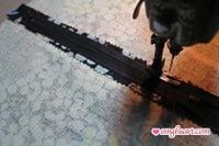 Sew a border around the zipper