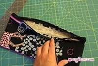 Turn the pouch 'inside out' and Voila!