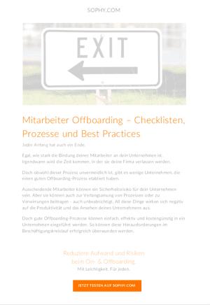 Mitarbeiter Offboarding - Checklisten, Prozesse und Best Practices