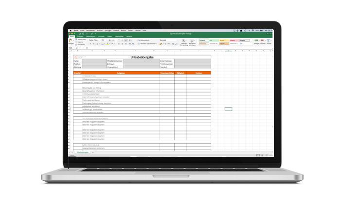 Urlaubsuebergabe Excel Vorlage