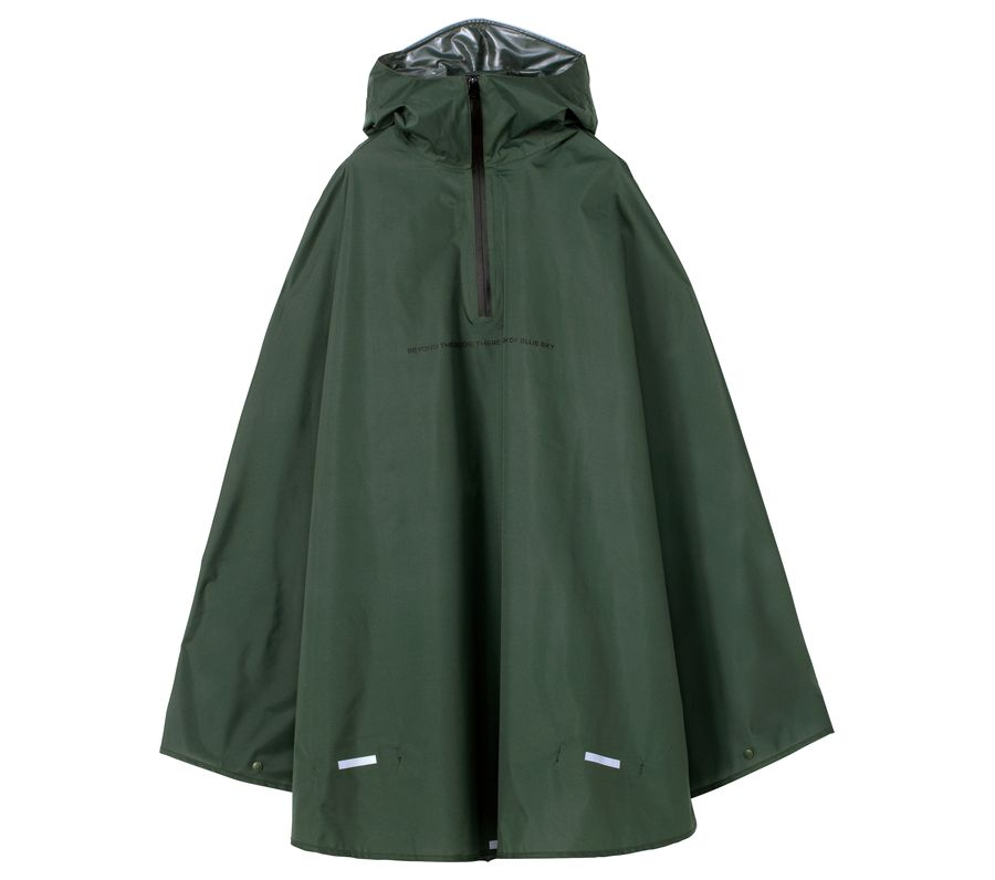 RAIN BICYCLE PONCHO-KHAKI画像1