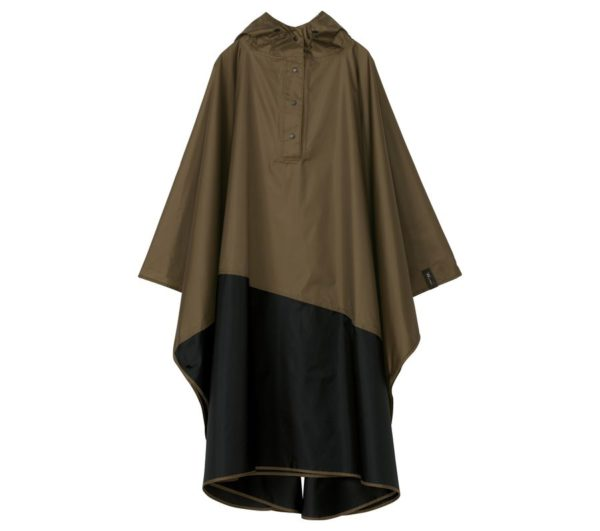 UNISEX RAIN PONCHO-BROWN×BLACK