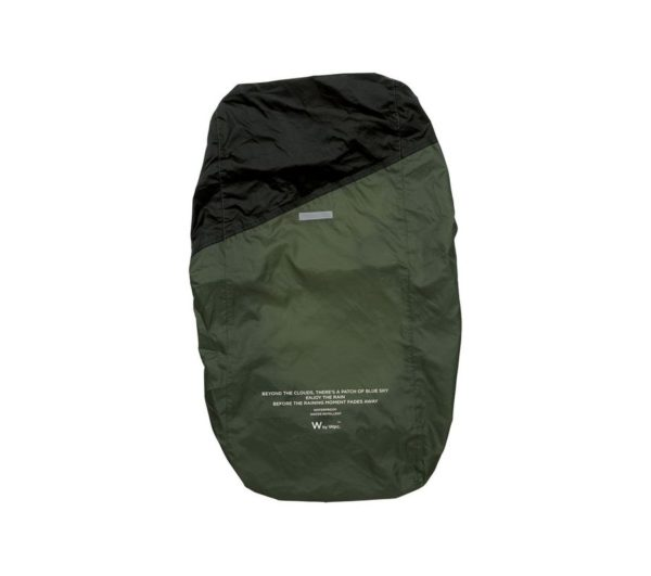 RAIN BACKPACK COVER-KHAKI×BLACK