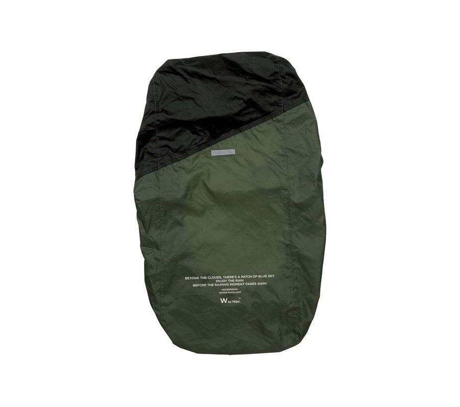 RAIN BACKPACK COVER-KHAKI×BLACK画像1
