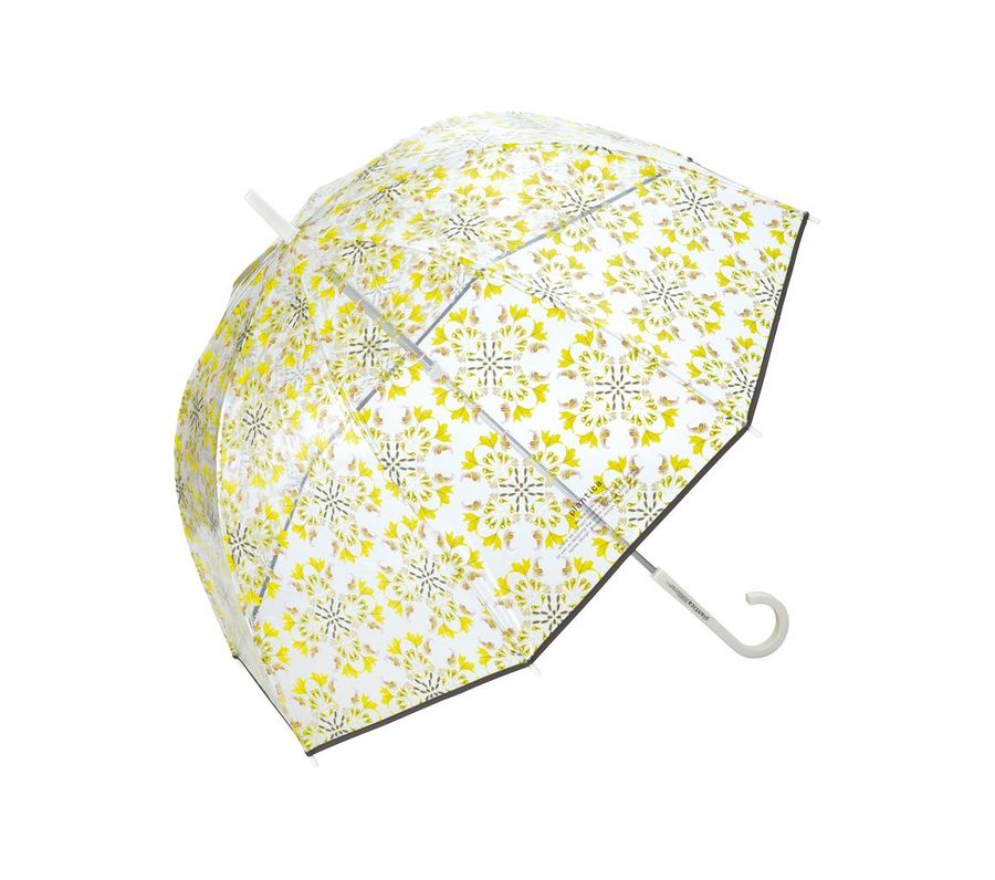 FLOWER UMBRELLA PLASTIC YELLOW画像1