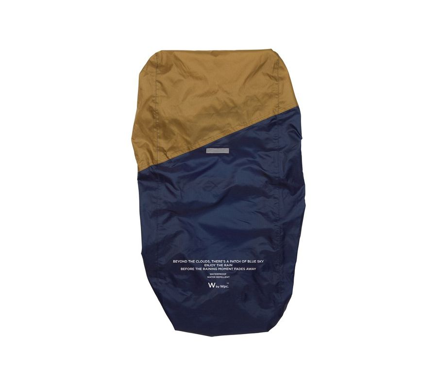 RAIN BACKPACK COVER NAVY × CAMEL画像1
