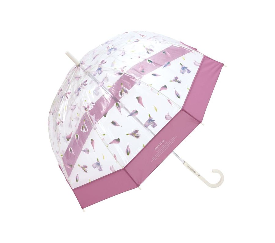 FLOWER UMBRELLA PLASTIC PINK画像1