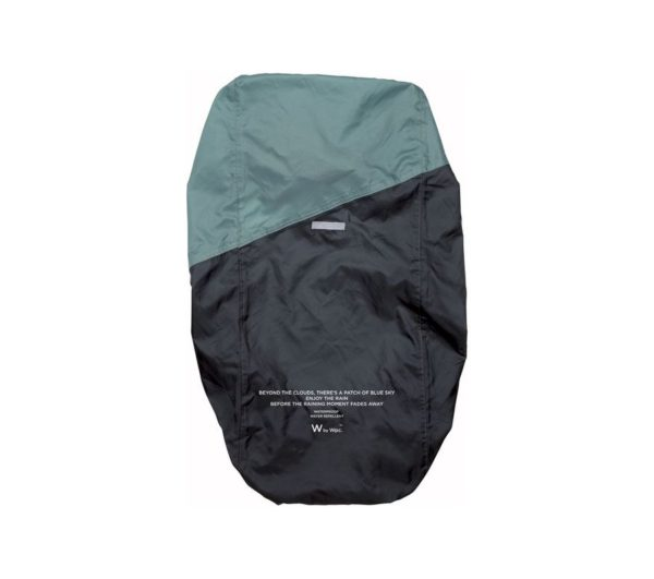 RAIN BACKPACK COVER-GRAY×BLUE GREEN