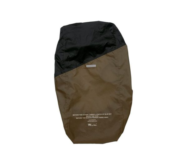 RAIN BACKPACK COVER-BROWN×BLACK