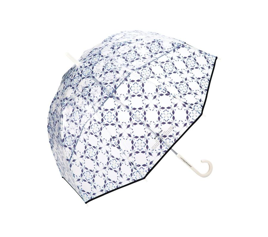 FLOWER UMBRELLA PLASTIC BLUE画像1