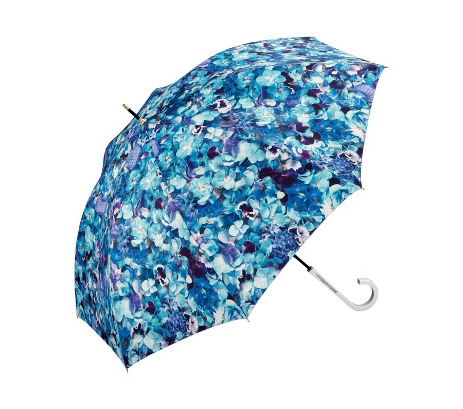 PLANTICA FLOWER UMBRELLA LONG BLUE画像1
