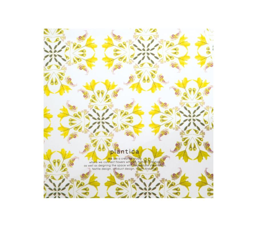 FLOWER UMBRELLA PLASTIC YELLOW画像3