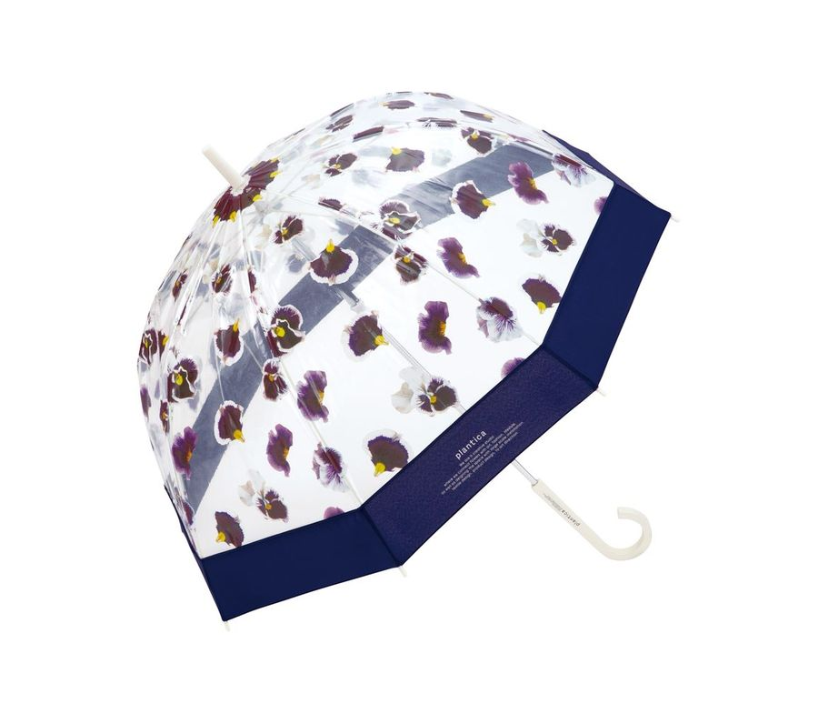 PLANTICA FLOWER UMBRELLA PLASTIC NAVY画像1