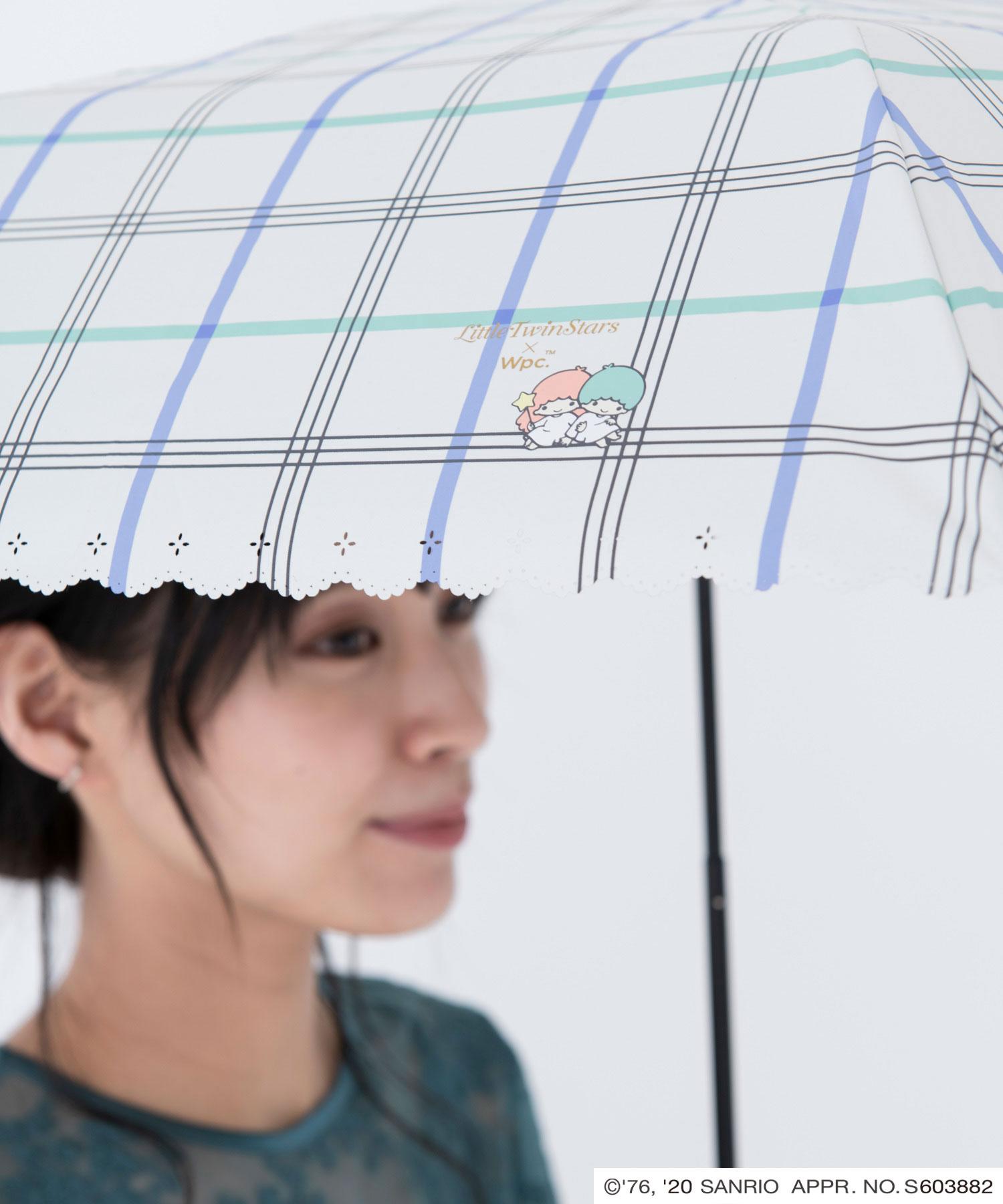 キキ&ララ ガーリッシュチェックミニ,傘