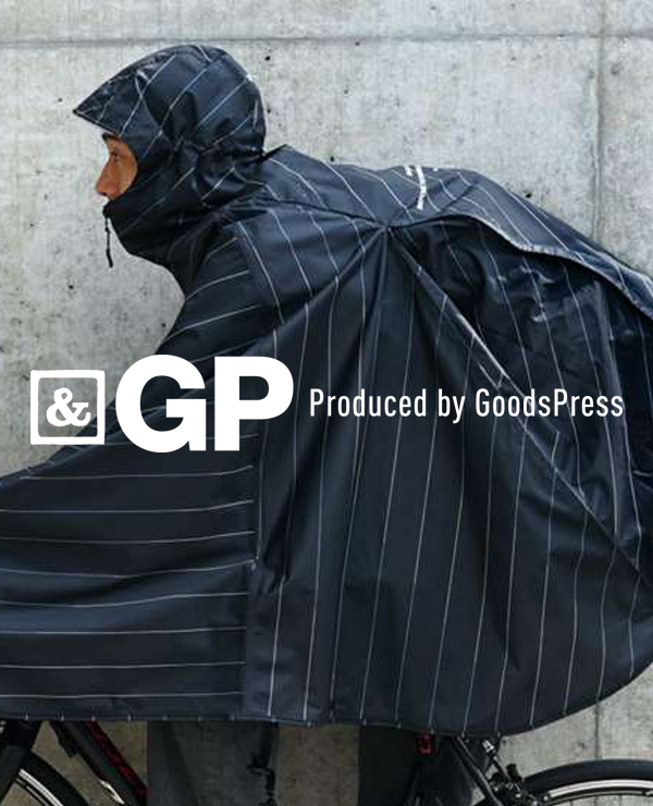 「&GP Produced by GoodsPress」でRAIN BICYCLE PONCHOが紹介されました