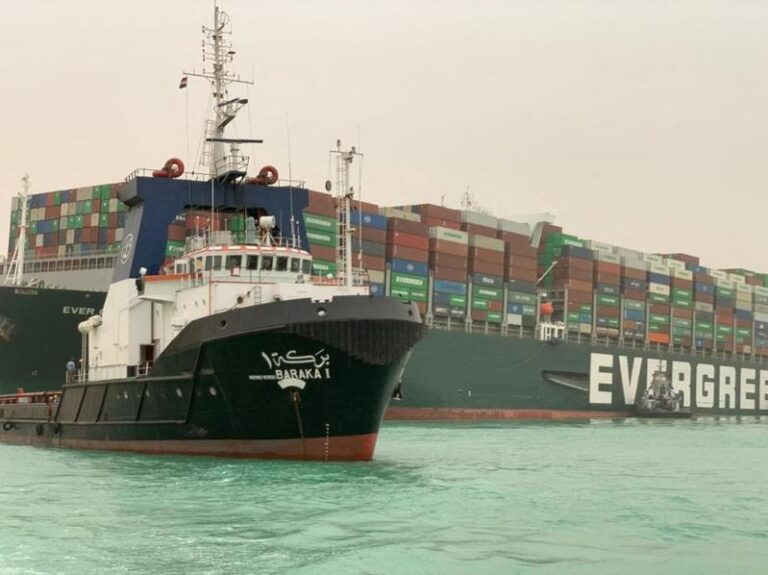Port agent: Container ship stranded in Suez Canal still stuck
