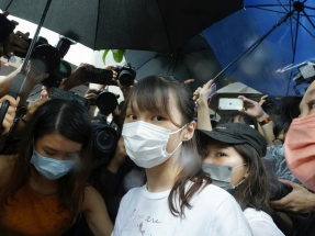 Agnes Chow walks free from prison