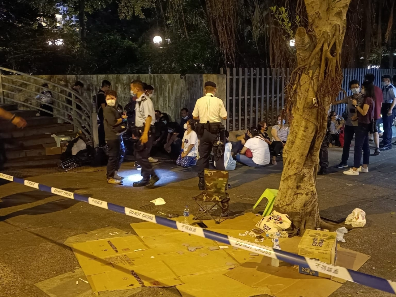 Police arrest 21 in Central for illegal gambling