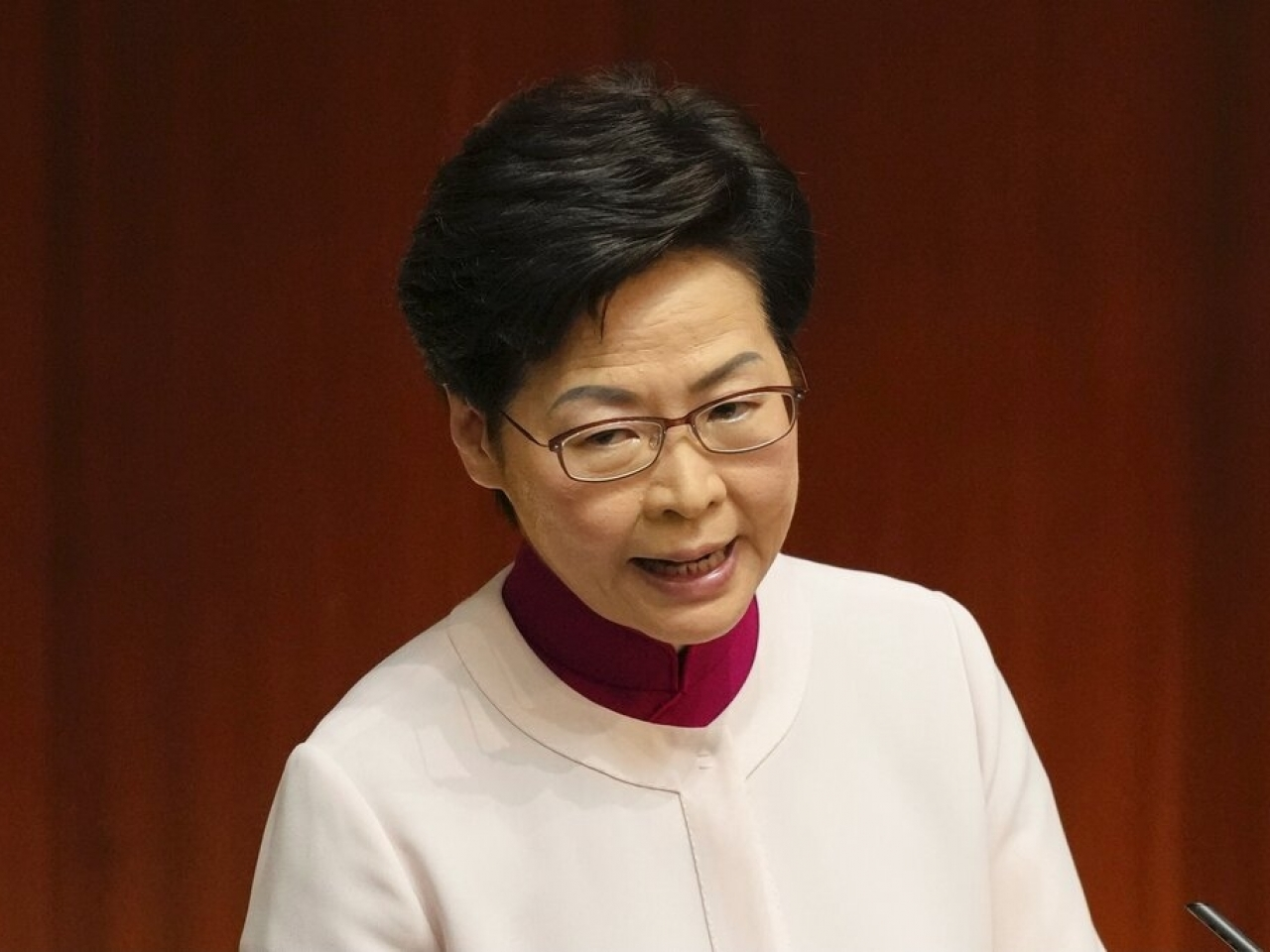 Carrie Lam in hospital with elbow fracture