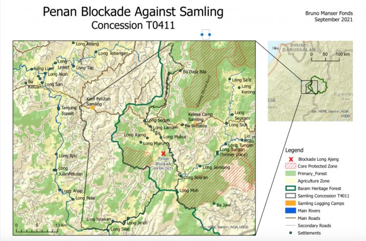 Threatened zone as Samling seeks out last remaining areas of primary forest to destroy in Baram