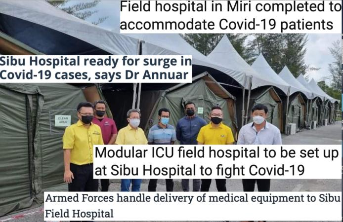 DESPICABLE AND EVIL – How GPS Sought An Election Just As Field Hospitals Were Rolled Out To Cope With Rising Pandemic In Sarawak