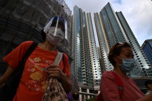 Developers offered vaccinated permanent residents a chance to win a flat at Grand Central in Kwun Tong.