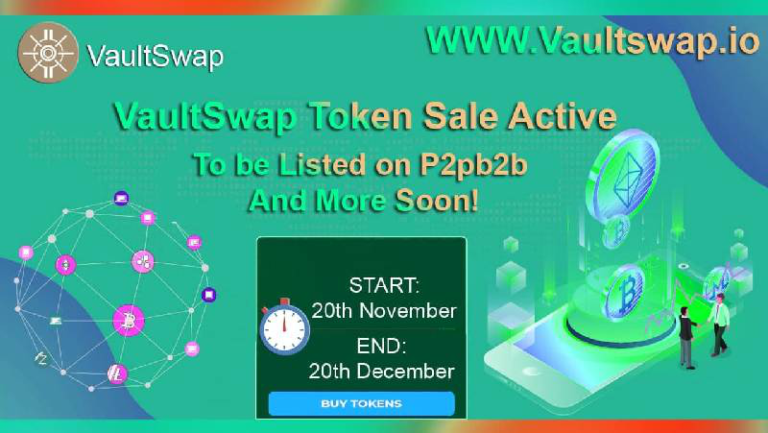 VaultSwap Announces Its Token Sales and Exchange Listings