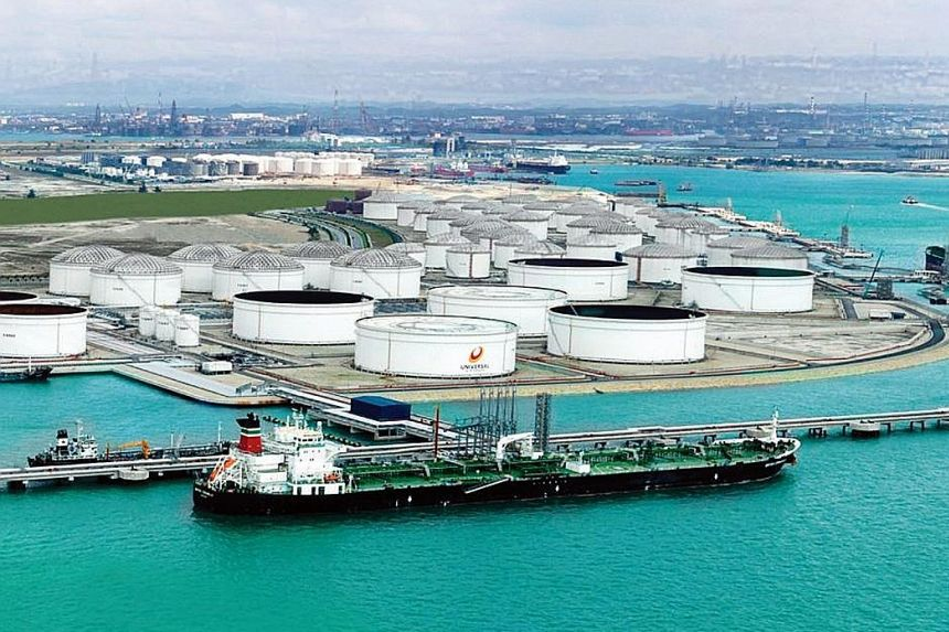 Hin Leong's Universal Terminal, which boasts a storage capacity of 2.33 million cubic m. PwC has found that the overstatement of Hin Leong's assets went back at least three years. PHOTO: HIN LEONG