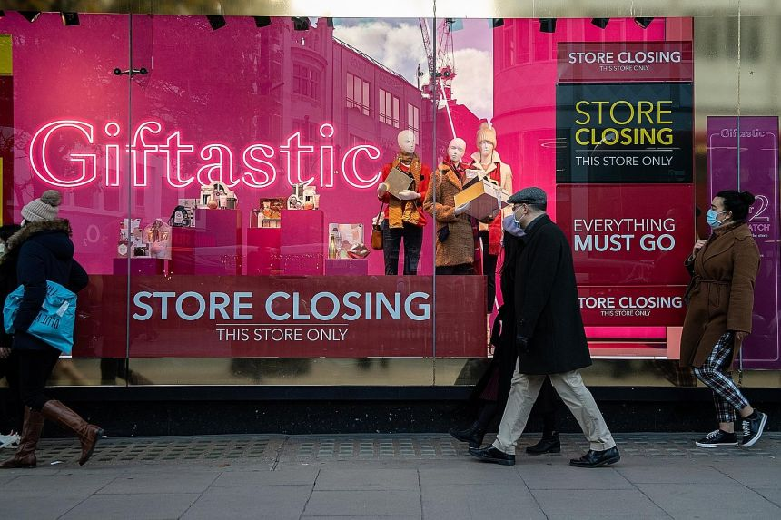 Shoppers queueing to enter a Debenhams department store in London last Saturday. The retailer has been struggling for many years, weighed down by costly stores with hefty rents and large property taxes.