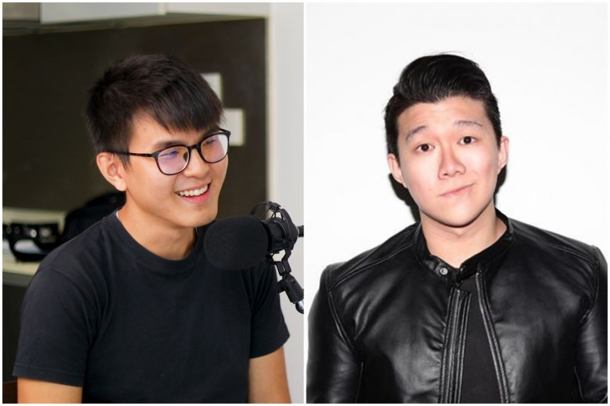 Mr Tham Jiang Jun (left) has recorded about 55 episodes for #TheLearningPodcast while Mr Joshua Yap is the chief executive of Open Circles, which produces EP!C Podcast.