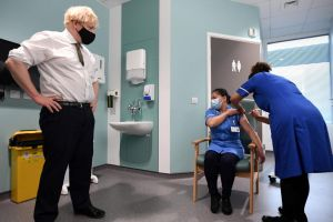 Boris Johnson announced a target to give shots to 13.9 million highest risk people by mid-February.