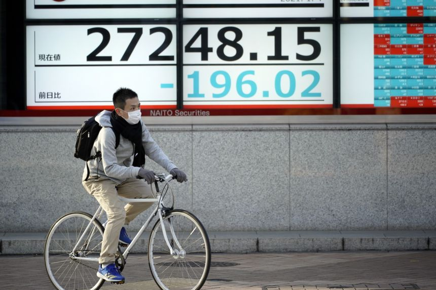 Japanese shares lost 0.47 per cent after a media report that the government will curb business hours in Tokyo and surrounding cities.