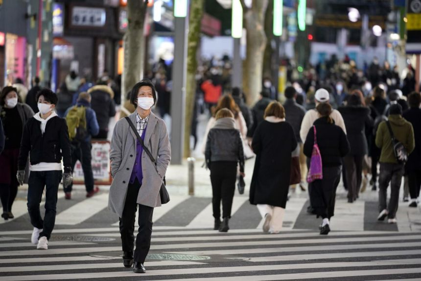 Japan's economy contracted 4.8 per cent in 2020, marking the first annual fall since 2009.