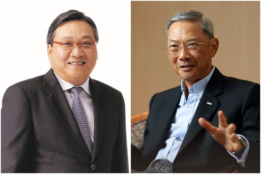 Mr Danny Teoh (left),  Keppel's current audit committee chairman, will succeed Dr Lee Boon Yang.