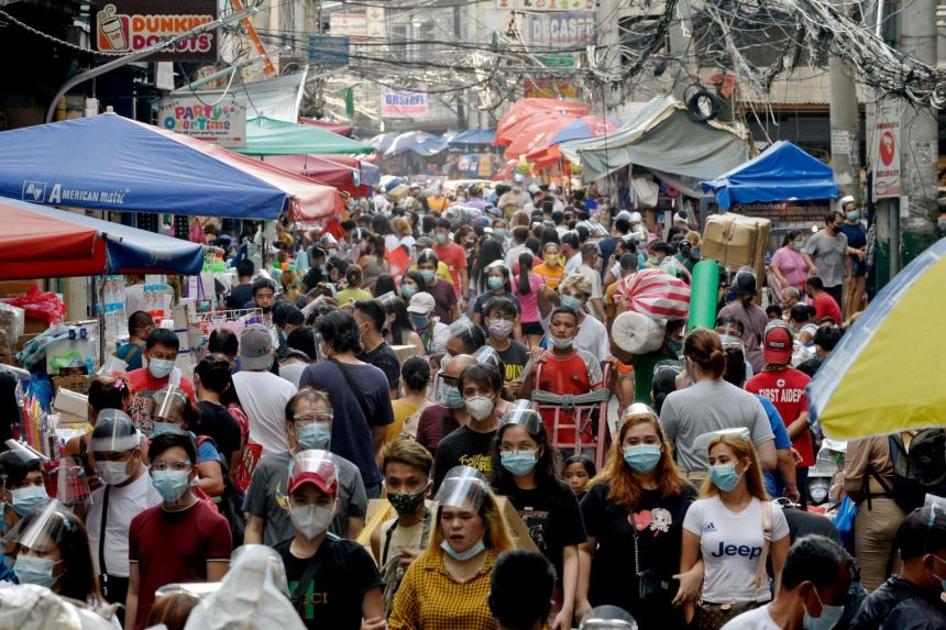 The Philippines economy slumped by a record 9.5 per cent last year.