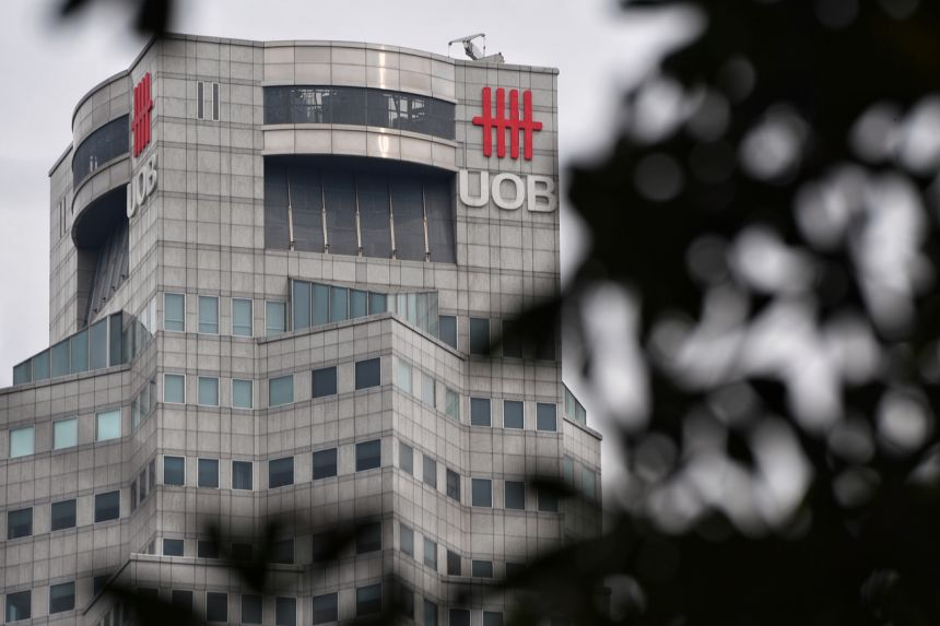 UOB said on Thursday (Feb 25) that October-December net profit slumped to $688 million from a year earlier.