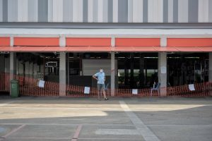 The hawker centre is closed for deep cleaning and disinfection, from Wednesday afternoon till Friday.