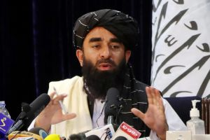 Taleban spokesman Zabihullah Mujahid delivered assurances in a live broadcast on behalf of a group that once banned television.
