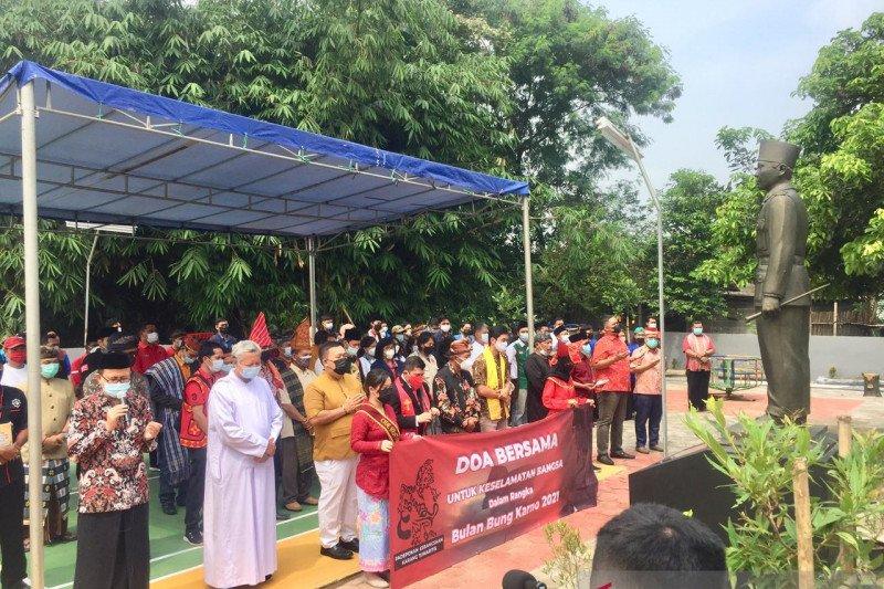 Doa lintas agama dan kursus Pancasila peringati Bulan Bung Karno 2021