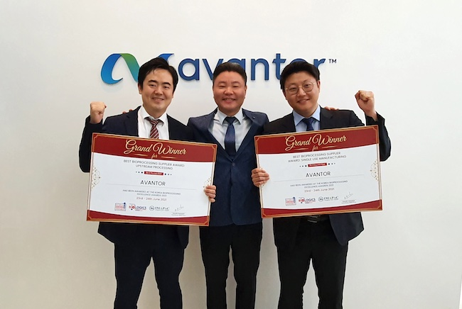 Avantor Named Best Company in Bioprocessing Excellence for Single-use Solutions and Best Bioprocessing Supplier for Upstream Processing at Biologics Manufacturing Korea 2021