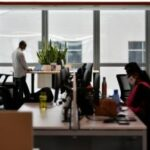 No more than 75 per cent of employees who are able to work from home should be at the workplace at any point.