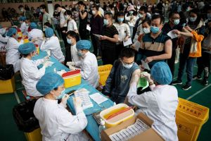 China had administered a total of 243.91 million doses as of April 28.